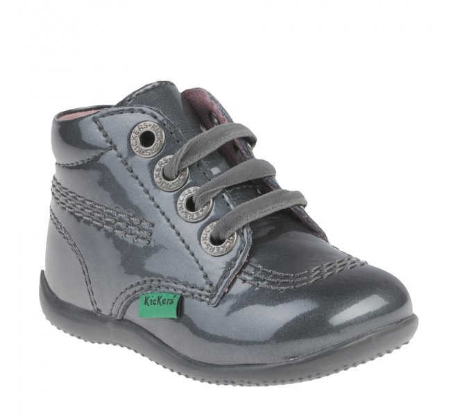 Bottines fille - KICKERS - Gris