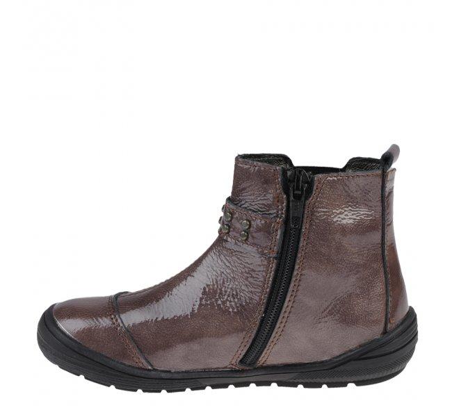 Boots fille - BOPY - Rouge bordeaux