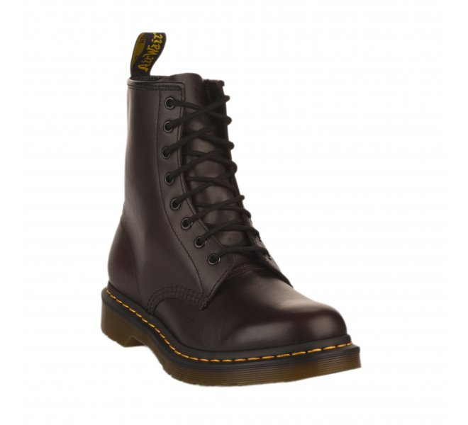 Bottines Dr Martens rouge bordeaux fille 1460W 58042