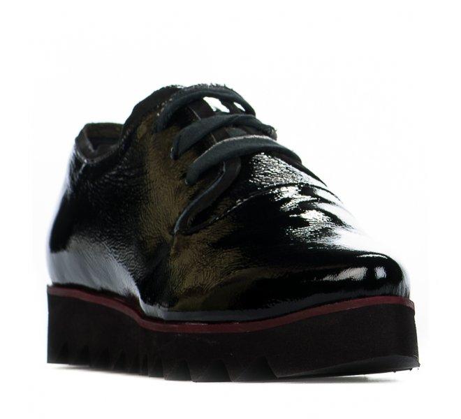 Chaussures à lacets fille - PAPUCEI - Noir verni
