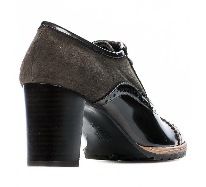 Chaussures à lacets fille - CYPRES - Marron verni