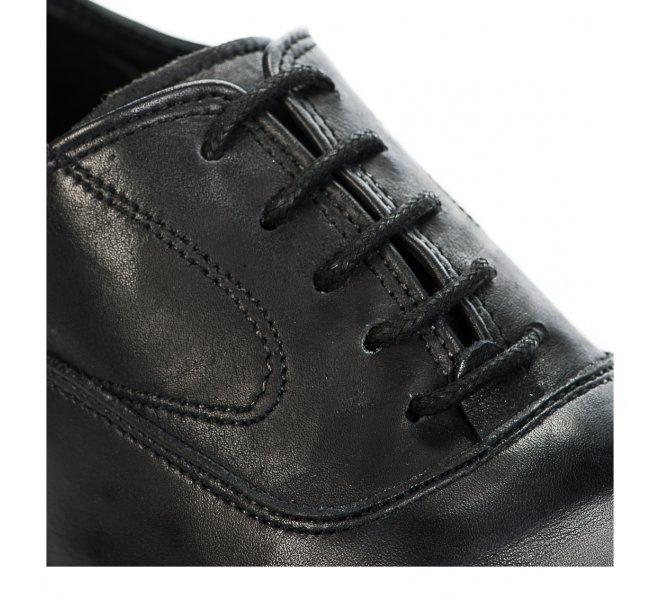 Chaussures à lacets garçon - FIRST COLLECTIVE - Noir