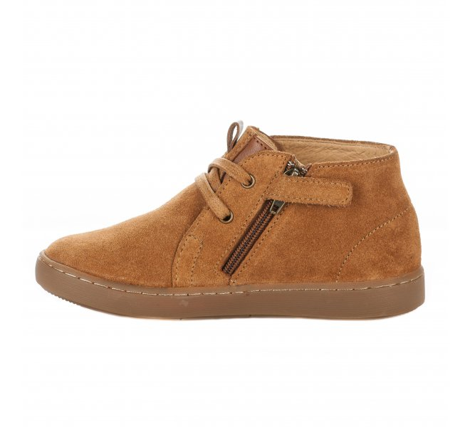 Bottines garçon - SHOO POM - Naturel