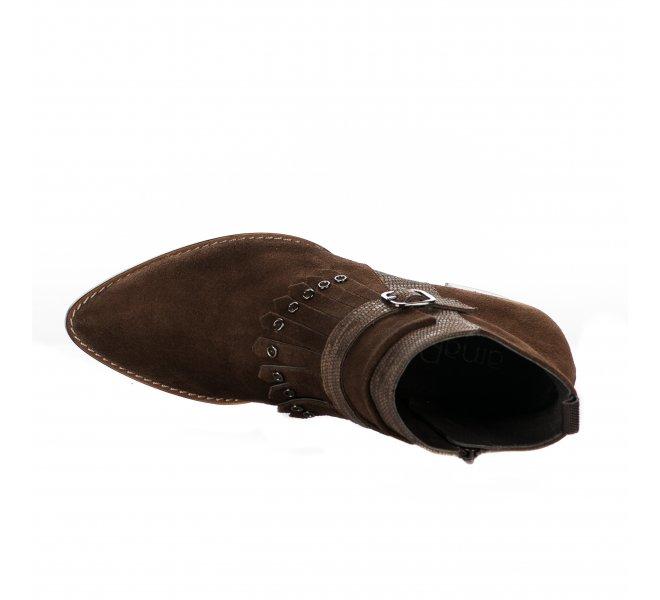 Boots fille - AMARU - Marron cognac