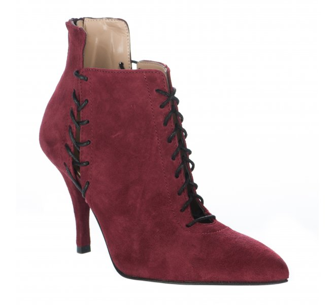 Boots fille - STYME - Rouge bordeaux