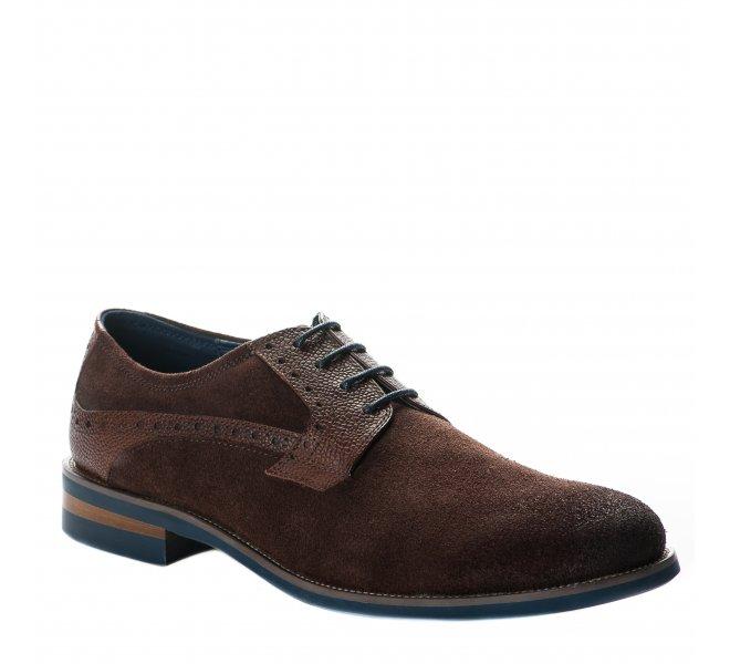 Chaussures à lacets garçon - DANIEL KENNETH - Marron