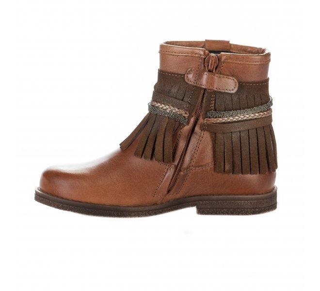 Boots fille - LITTLE DAVID - Naturel