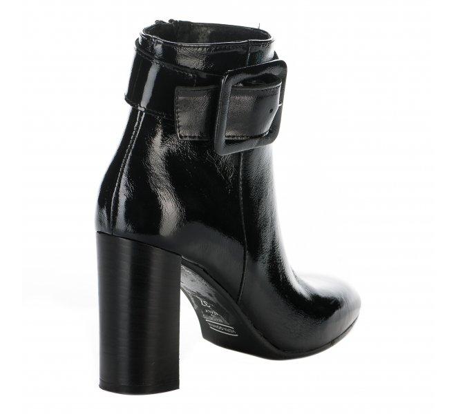 Boots fille - STYME - Noir verni