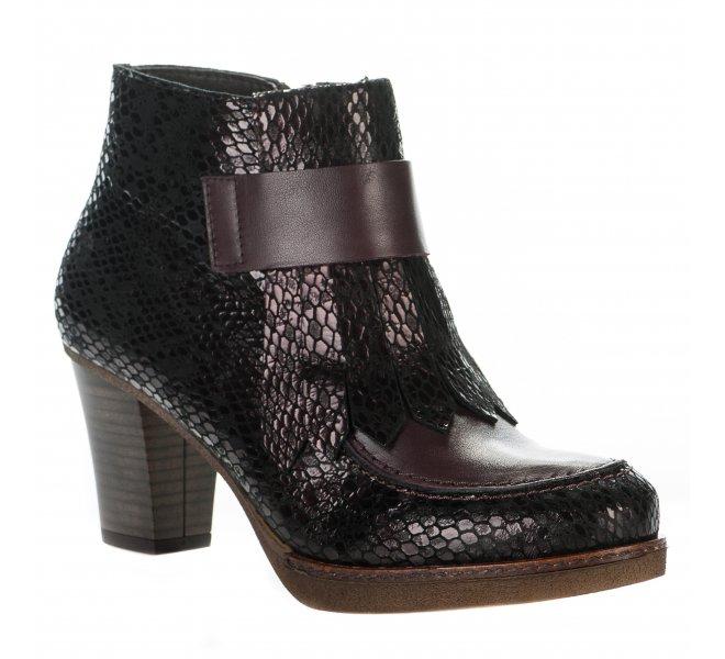 Boots fille - APPLE LOVE - Violet prune
