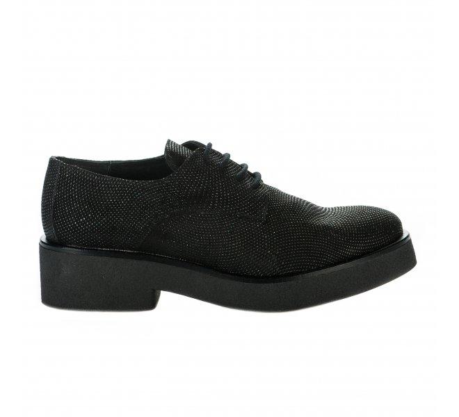 Chaussures à lacets fille - WEEKEND - Noir