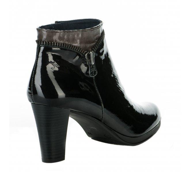 Boots fille - DORKING - Noir verni