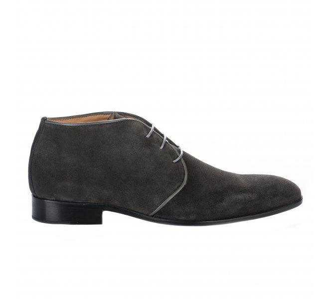 Chaussures à lacets garçon - FIRST COLLECTIVE - Gris anthracite