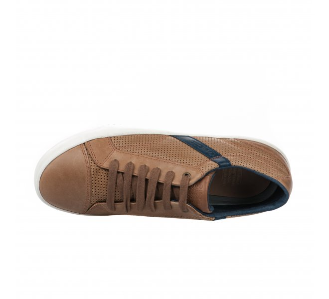 Chaussures à lacets garçon - GEOX - Marron