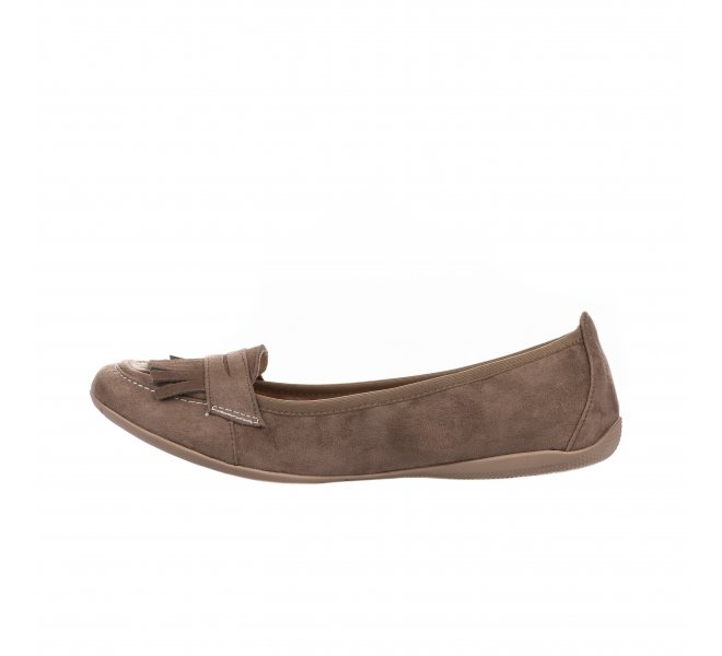 Mocassins fille - LES PETITES BOMBES - Taupe