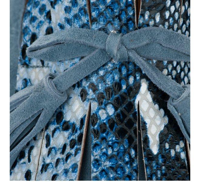 Mocassins fille - DI LAURO - Bleu