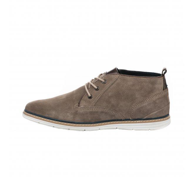 Chaussures à lacets garçon - FIRST COLLECTIVE - Beige