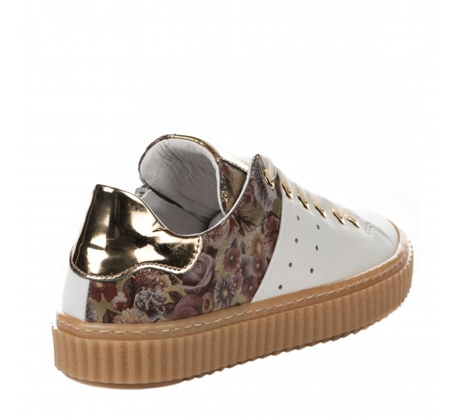 Baskets fille - COMPAGNUCCI - Blanc casse