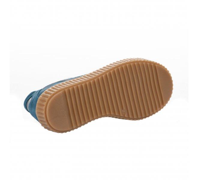 Baskets garçon - COMPAGNUCCI - Bleu canard