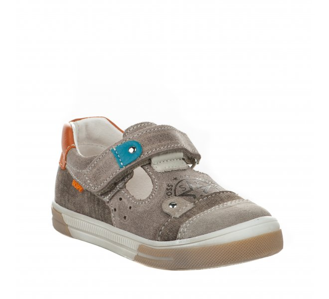 Chaussures à lacets garçon - BOPY - Beige