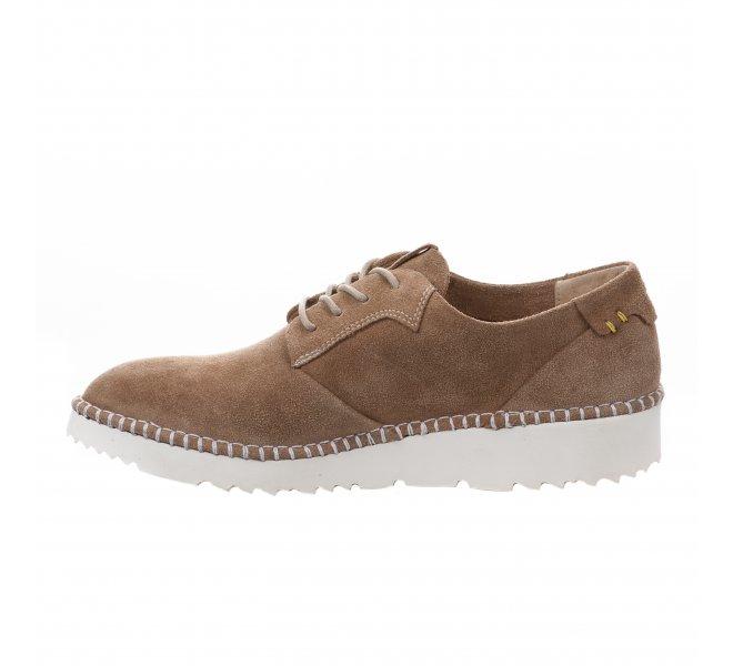 Chaussures à lacets fille - MIGLIO - Marron clair