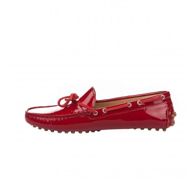 Mocassins fille - PELLET - Rouge vernis