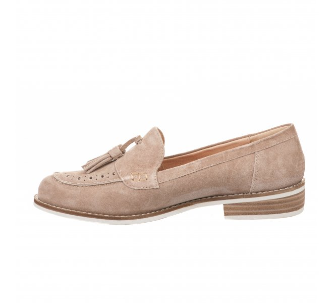Mocassins fille - MADISON - Beige
