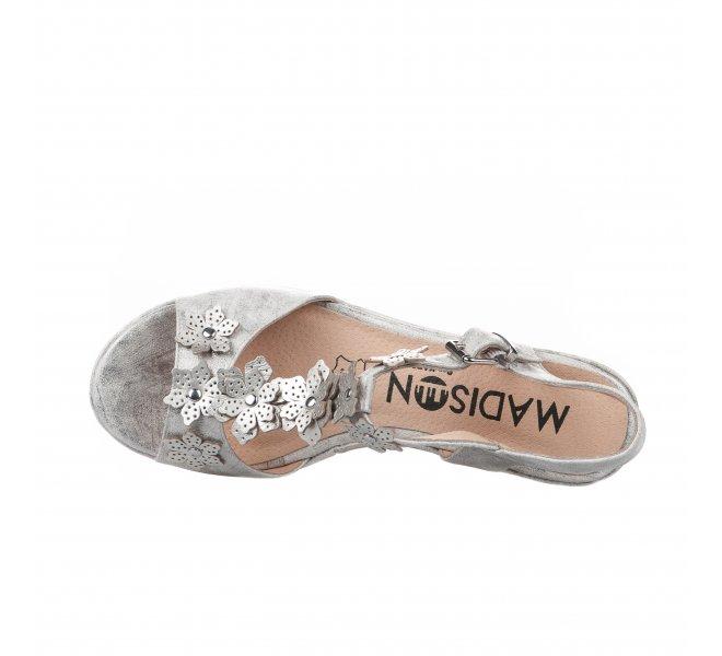 Nu pieds fille - MADISON - Gris argent