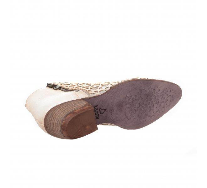 Boots fille - KANNA - Blanc creme