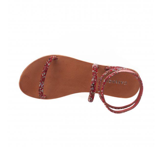 Nu pieds fille - CAFE NOIR - Rouge