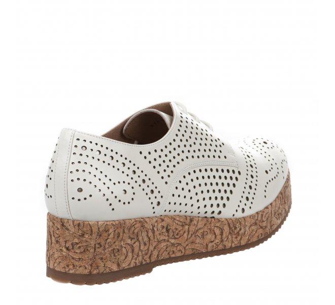 Chaussures à lacets fille - MAM'ZELLE - Ecru