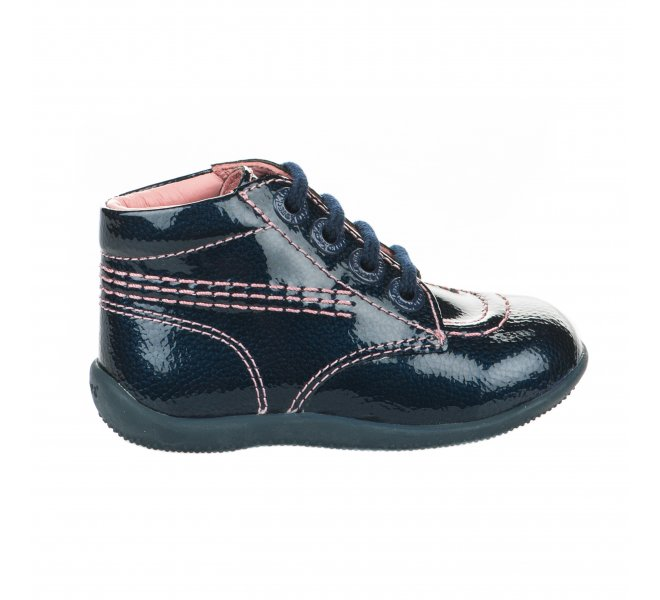 Bottines fille - KICKERS - Bleu verni