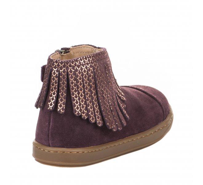 Boots fille - SHOO POM - Violet prune
