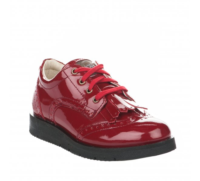 Chaussures a lacets fille - NOEL - Rouge vernis