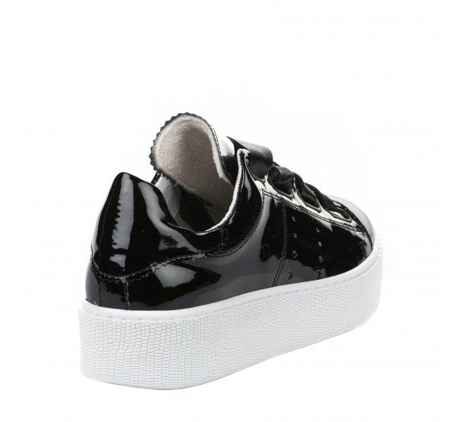 Baskets fille - TANGO - Noir verni