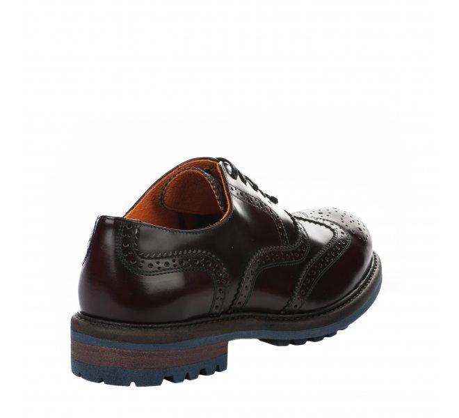 Chaussures à lacets garçon - AMBITIOUS - Rouge bordeaux