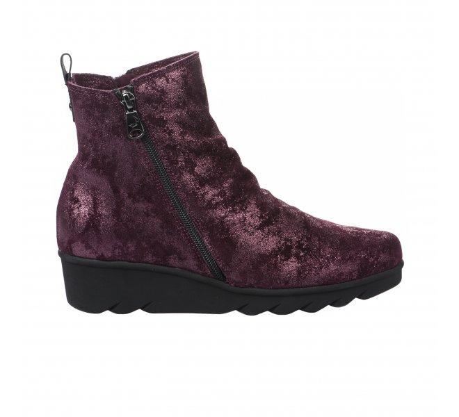 Chaussures de confort fille - PAULA URBAN - Rouge bordeaux