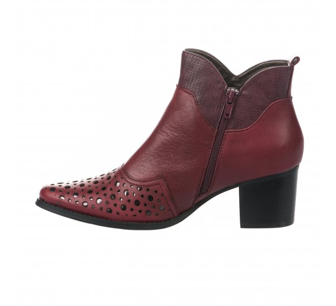 Boots fille - MADISON - Rouge