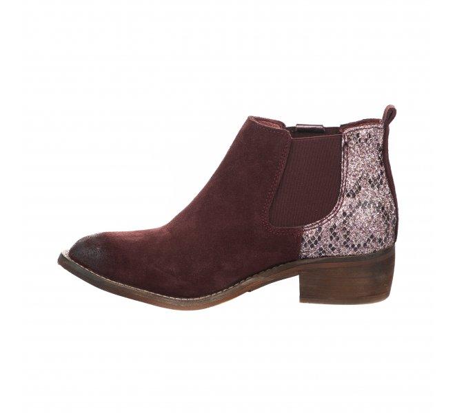 Boots fille - REPUBLYKA - Rouge bordeaux