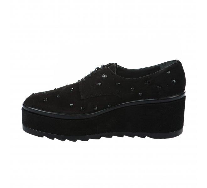 Chaussures à lacets fille - JHAY - Noir