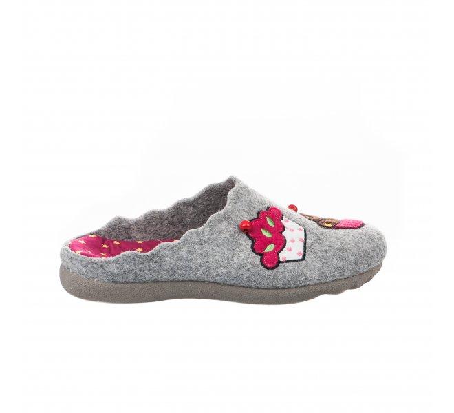Pantoufles fille - HDC - Gris