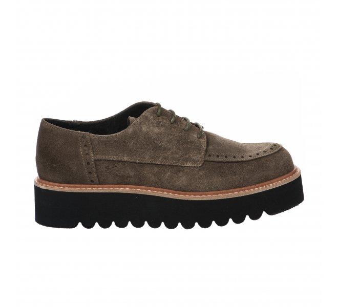 Chaussures à lacets fille - LOUISA - Kaki
