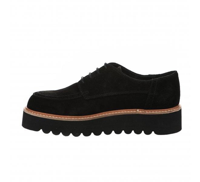 Chaussures à lacets fille - LOUISA - Noir