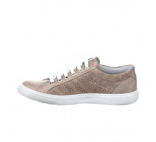 Baskets mode fille - CHACAL - Beige dore