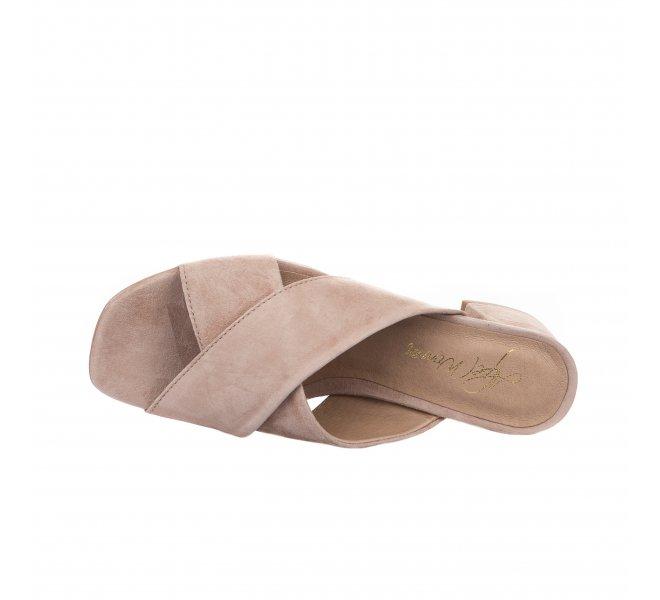 Mules fille - ALPE - Beige rose