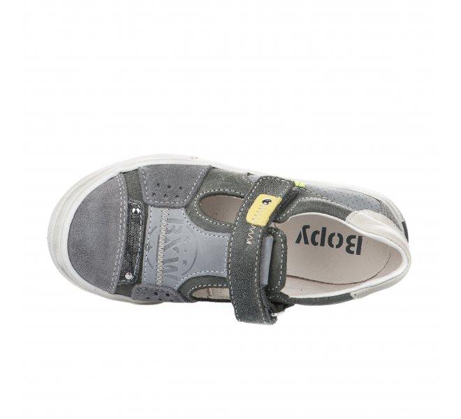 Chaussures à lacets garçon - BOPY - Gris