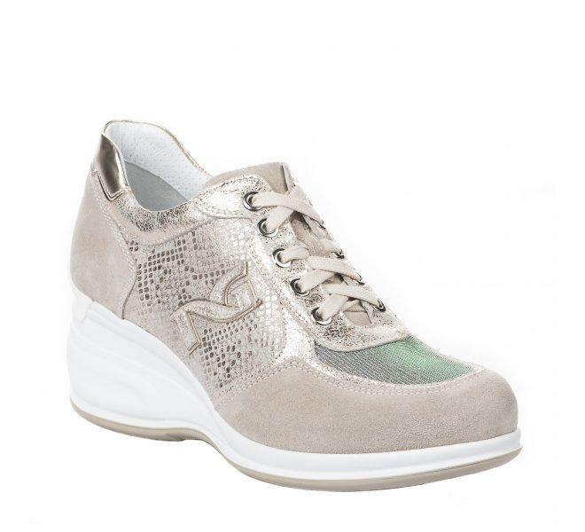 Baskets mode fille - NEROGIARDINI - Beige dore
