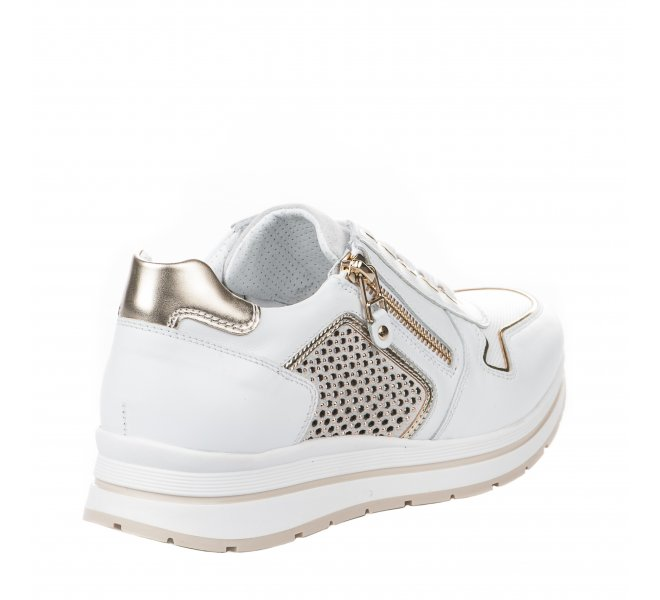 Baskets mode fille - NEROGIARDINI - Blanc