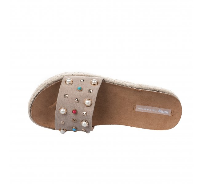 Mules fille - MTNG - Taupe
