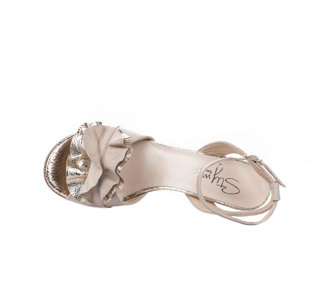 Nu pieds fille - STYME - Beige