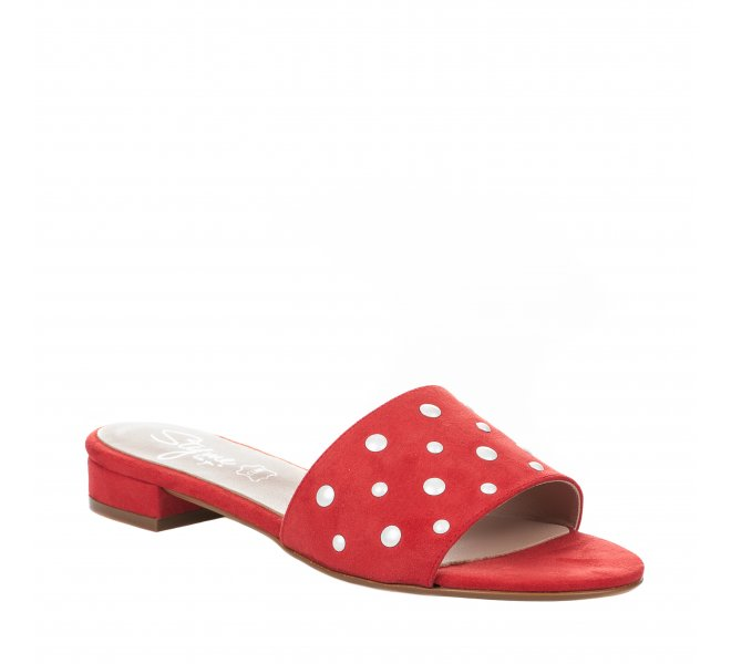 Mules fille - STYME - Rouge